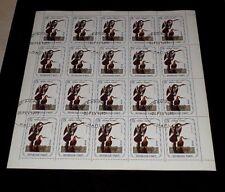 HAITI, 1975, 75 CENTIMES, AUDUBON BIRDS, TURKEY, SHEET/20, CTO, NICE! LQQK!