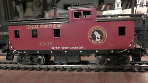 HO Brass Tenshodo Great Northern Railway Caboose Factory Paint Made In Japan G.N
