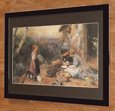 The new arrival, Myles Birket Foster -20''x16'' frame, vintage kitten wall art