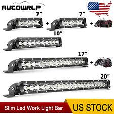 "7"" 10"" 17"" 20"" Slim LED Work Light Bar Offroad SUV ATV 4WD Truck vs 6""9""18""21"""