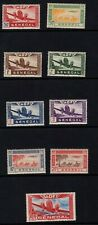 Senegal 1942 Airmails Airplanes set of 9 Sc C17-C25 MNH