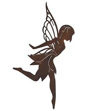 Fairy Dancing Metal Hanging Wall Art Rustic Ballerina Home Garden Sculpture 53c