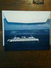 LOT OF 2 CHRISTMAS CARDS THE TILLICUM WASHINGTON STATE FERRIES.