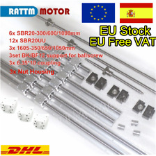 【ES+EU】 SBR20 Linear Guide Rail+SFU1605 Ballscrew L350/650/1050mm for CNC Router
