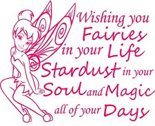 TRIBAL TINKERBELL INSPIRATIONAL QUOTE DECAL VINYL GRAPHIC STICKER