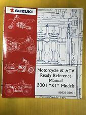 "2001 Suzuki Motorcycle & Atv ""K1� Models Ready Reference Manual"