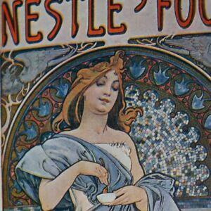 EXRare ORIGINAL JUNE 1898 ART NOUVEAU POSTER MAGAZINE RARE ALPHONSE MUCHA BEAUTY