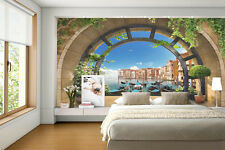 Photo Wallpaper - Arch&Sea RETRO style for Bedroom - Wall murals FREE SHIPPING