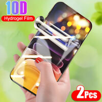 2 Pcs For iPhone 12 Mini/Pro Max HD Flexible Hydrogel Screen Protector Soft Film