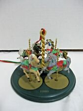Hallmark Carousel Horses and Display Stand 1989 Set of 4