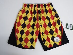 Youth XX Small Argyle Performance  Athletic Shorts Black  Flow Society