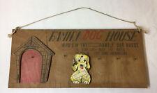 1960's wood display ~ Family Dog House