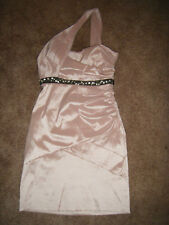 CITY TRIANGLES size 7 SHINY PINK Sexy Ruched JEWELED Evening Prom MINI DRESS