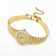 NYJEWEL GENEVE Italy 14k Yellow Gold Vintage Lady's 1.5ct Diamond Watch