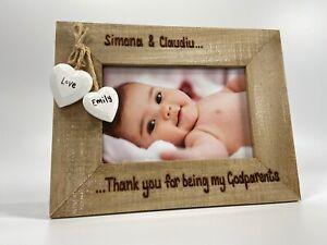Godparents / Godmother / Godfather  Gift   Personalised Photo Frame   Thank You