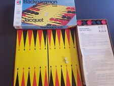 Milton Bradley Paris French Jeu de Jacquet Backgammon Game Acey-Deucy C4319