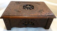 Antique QUIMPER BRITTANY BRENTON Miniature Doll Furniture Box SIGNED