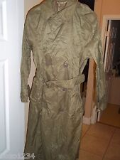 RARE CENTRE MFG CO RAINCOAT VINTAGE ARMY MILITARY PERSONAL GEAR TRENCH COAT 34R