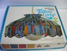 Vintage WOODMAN'S Original TIFFANY LAMP KIT - Build A Lamp - Red - COMPLETE