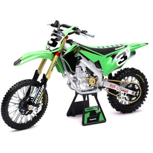 Ray MX Kawasaki Eli Tomac Racing 2019 1:12 Off Road Dirt Bike Toy