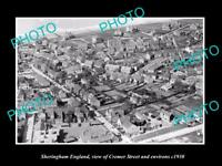 OLD LARGE HISTORIC PHOTO OF SHERINGHAM ENGLAND VIEW OF CREMER ST AREA c1930