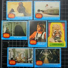 Star Wars 1977 trading cards x 7