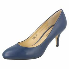 Ladies F9695 Synthetic Court Shoe by Anne Michelle Navy UK 5