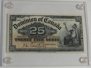 CU 1900 Dominion of CANADA 25¢ Twenty-Five Cent Bank Note.  #5