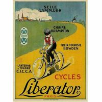 Cycles Liberator Paris Cycling Poster Vintage Bicycling Art Poster -d'apres Gype