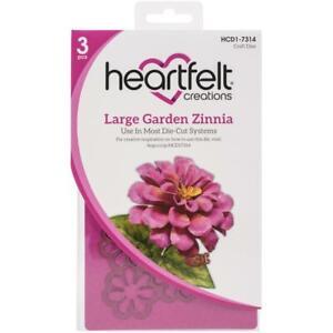 Heartfelt Creations Summer's Garden Collection CHOOSE Garden Zinnia Dies+Stamps