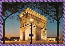 Carte Postale - Paris - Arc de Triomphe de l'étoile illuminé