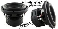 "(2) DS18 Elite Z6 6.5"" Subwoofer Dual 4 Ohm 600 Watts Max Bass Sub Speaker Car"