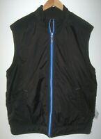 Tommy Bahama Men's Reversible Vest Black Size L Fleece to Windbreaker Full Zip