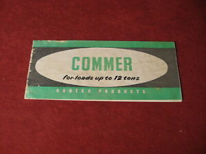 1956 Commer rig Semi Truck Sales Sheet Brochure Booklet Catalog Book Old