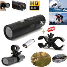 Mini DV 170° Sports Camera 1080P HD Waterproof Bike Helmet Action Cam +Gun Clip