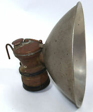 "Auto Lite Carbide Lamp Miner Caver Spelunker Light with Huge 7"" Reflector"