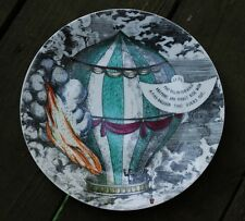 RARE Vintage PIERO FORNASETTI c1955 'MONGOLFIERE' BALLOONING Porcelain Plate 7
