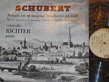 SCHUBERT SONATA D 8430 SVIATOSLAV RICHTER LE CHANT DU MONDE CDM LP