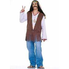 Forum Novelties 152287 Faux Suede Hippie Vest Costume Brown Standard One-size
