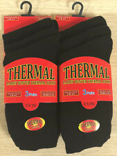 Ladies and Gents Thermal Socks 3pk Cotton Rich 78p/pair