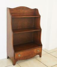 Bevan Funnell Reprodux Mahogany Small Waterfall Bookcase with Drawer