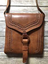 Genuine Leather Handmade Messenger CrossBody Bag Boho Hand Tooled Mexican Large