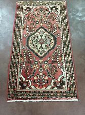 "Semi Antique Hand Knotted Persian Hamadan Floral Rug Carpet 2x4,2'3""x4'2"""