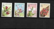 PAPUA NEW GUINEA 1986 ORCHIDS MNH, SG531/4