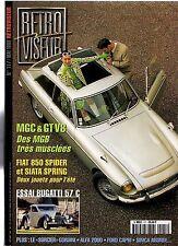 RETROVISEUR 117 MGC MGB GT V8 FIAT 850 SPIDER SIATA SPRING BUGATTI 57 FORD CAPRI