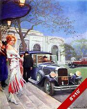 PIERCE ARROW 1929 CLASSIC AMERICAN MADE CAR PAINTING VINTAGE AD CANVAS ART PRINT