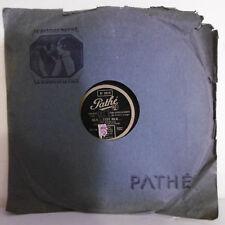 78T SAPHIR 29cm Disque Mlle MISTINGUETT Phonographe JULIE Chanté PATHE 3615 RARE