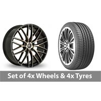 """4 x 19"""" AC Wheels Syclone Black Alloy Wheel Rims and Tyres -  265/35/19"""