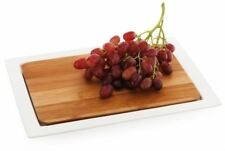 Maxwell and Williams White Basics Bamboo 2 Piece Platter 32cm by 24cm