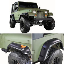 "87-95 Jeep Wrangler YJ 6"" Wide Black Pocket Rivet Style Fender Flares 4PCS Set"